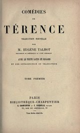Térence - Comédies, traduction Talbot, 1877, volume 1.djvu