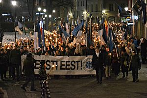 Conservative People's Party of Estonia - Image: Tõrvikurongkäik 2016