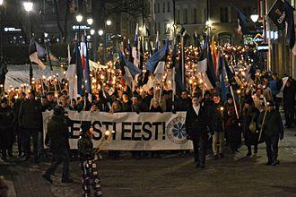 Conservative People's Party of Estonia - Image: Tõrvikurongkäik 2016
