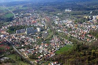 Týniště nad Orlicí - Aerial view