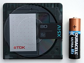 TDK MiniDisc and Duracell Ultra M3 20070320.jpg