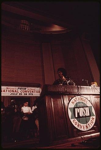 Rainbow/PUSH - Jesse Jackson speaks at 1973 PUSH National Convention