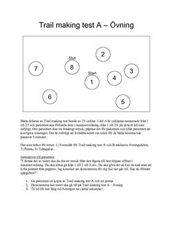 trail making test manual for administration and scoring