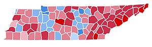United States presidential election in Tennessee, 1988 - Image: TN1988