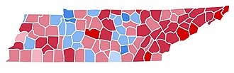 1988 United States presidential election in Tennessee - Image: TN1988
