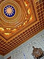 TW 台北 Taipei 中正紀念堂 Chiang Kai-Shek Memorial Hall - sculpture n ceiling ROC logo Feb-2013.JPG