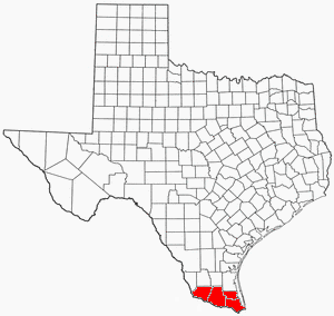 Rio Grande Valley - Image: TX Map RGV Shaded