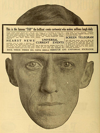 Tad Dorgan - 1919 advertisement with Dorgan