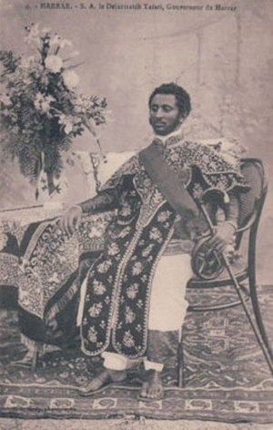 Haile Selassie - Dejazmatch  Tafari, as governor of Harar