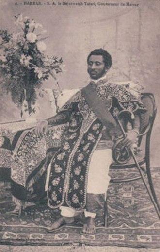 Haile Selassie - Dejazmatch  Tafari, as governor of Harar
