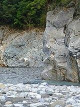 太魯閣渓谷の大理石