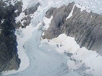 Taku Glacier - An aerial view of a small corner of Taku Glacier, 2007.