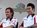 Takuma Sato and Franck Montagny 2006 United States GP (178218412).jpg