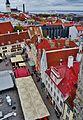 Tallinn Blick vom Rathausturm auf den Rathausplatz 2.JPG