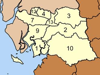 Palian District - Map of tambon