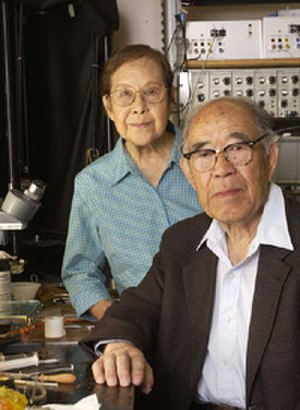 Ichiji Tasaki - Dr. Ichiji Tasaki with his late wife and collaborator, Nobuko.