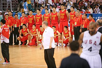 China men's national basketball team - Team China in 2008 Olympics.