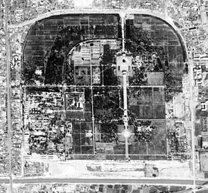 Temple of Earth - Satellite image of the park of Temple of Earth.  (1967-09-20)