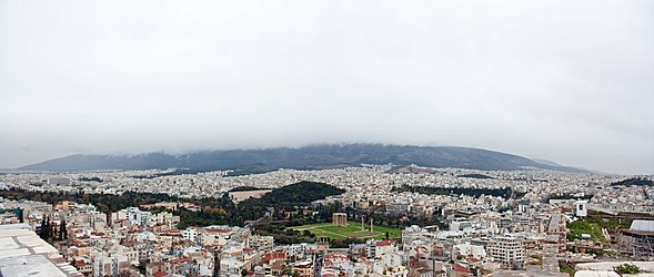 Temple of Zeus area from Athens Acropolis 2010.jpg