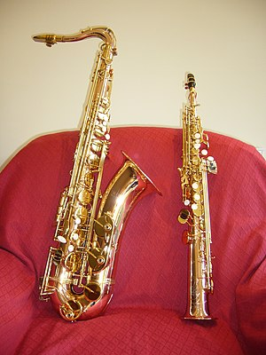 Phosphor bronze - Phosphor bronze tenor and soprano saxophones