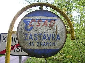 Request stop - Image: Terč ČSAD Křivoklát Píska
