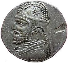 Тетрадрахма парфянского монарха Орода I, Селевкия mint.jpg