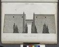 Thèbes. Louqsor (Luxor). Élévation de la façade du palais (NYPL b14212718-1268029).tiff