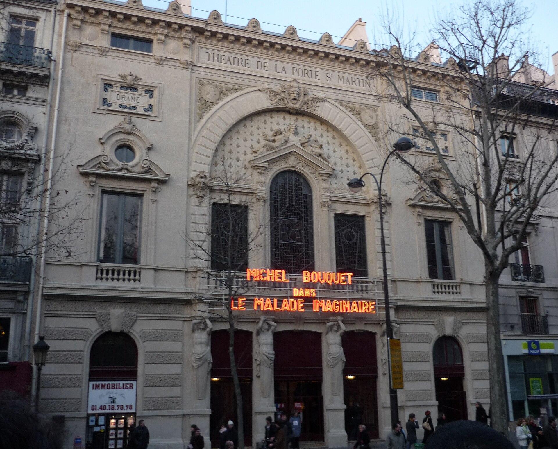 Th tre de la porte saint martin wikipedia - Plan salle theatre porte saint martin ...