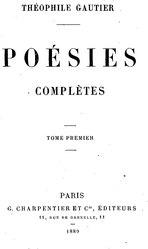 تئوفیل قوتیه: Poésies complètes