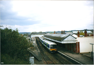 Thames Trains - A Class 166 at Stratford-upon-Avon in 2002.