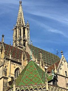 St Theobalds Church, Thann Church in Haut-Rhin, France
