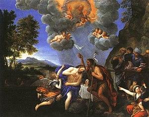 Francesco Albani - Baptism of Christ c.1640 (State Hermitage Museum, St. Petersburg