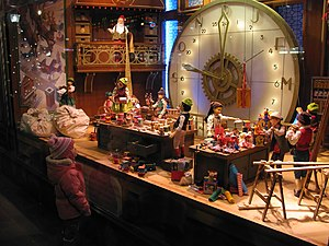 Christmas window - Christmas window displays at the Bay department store in Downtown Toronto, Ontario, Canada