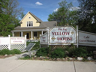 Absarokee, Montana - The Big Yellow House is listed on the National Register of Historic Places