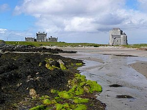 Clan Maclean - New Breachacha Castle (left) and Old Breachacha Castle (right), both once held by the Macleans