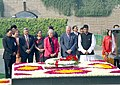 The Canadian Prime Minister Mr. Paul Martin paying homage at the Samadhi of Mahatma Gandhi in Delhi on January 18, 2005.jpg