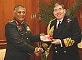The Chief of Naval Staff, UK, Admiral Sir Mark Stanhope calls on the Chief of Army Staff, Gen. V.K. Singh, in New Delhi on January 31, 2011.jpg