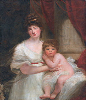Edward Harley, 5th Earl of Oxford and Earl Mortimer - The Countess of Oxford and her daughter, Lady Jane Elizabeth Harley (follower of John Hoppner)