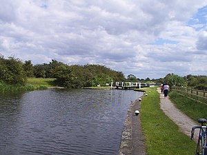 Erewash Canal - A View of the Erewash Canal above Eastwood Lock (Lock 1) at a place known locally as The Gudgeon