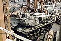 The M48 Patton tank is lifted gently aboard TS Nabob, NY - 1959.jpg