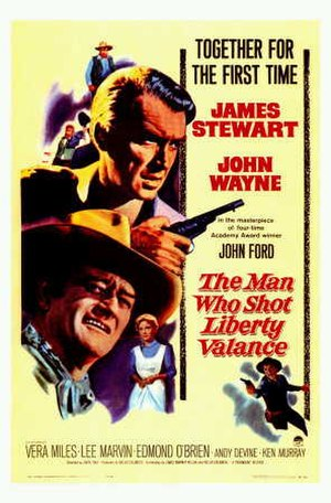 The Man Who Shot Liberty Valance - Theatrical release poster