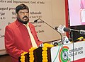 The Minister of State for Social Justice & Empowerment, Shri Ramdas Athawale addressing at the National Trust Foundation Day Celebrations, in New Delhi on December 30, 2016.jpg