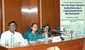"The Minister of State of Rural Development, Ms. Agatha Sangma at a National Workshop on ""Role of Gyan Choupals in Spreading Climate Literacy & in Building Sustainable Food and Water Security Systems"", in New Delhi.jpg"