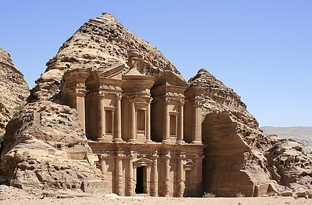 El Deir (The Monastery) in the ancient city of Petra, Jordan