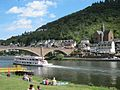 The Moselbridge at Cochem with a lovely church at the background - panoramio.jpg