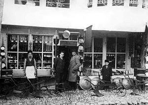 Old Bazaar, Gjakova - A shop in the Old Bazaar, Gjakova 1957