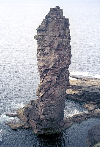 Torridonian - Thick-bedded sandstones of the Stoer Group exposed on the Old Man of Stoer
