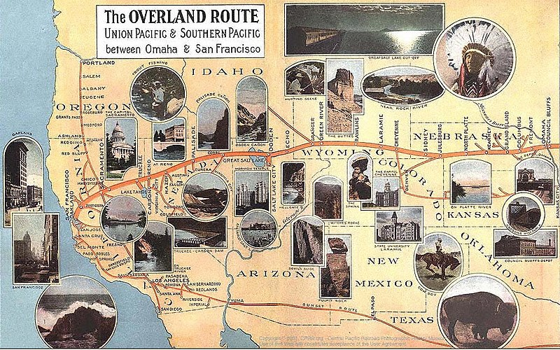Overland Limited UP train  Wikipedia