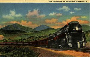 Lo streamliner a vapore di Pocahontas Norfolk e Western.JPG