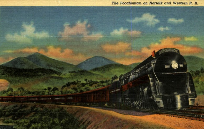 The Pocahontas steam streamliner Norfolk and Western